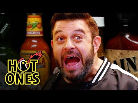 Xxx Mp4 Adam Richman Fanboys Out While Eating Spicy Wings Hot Ones 3gp Sex