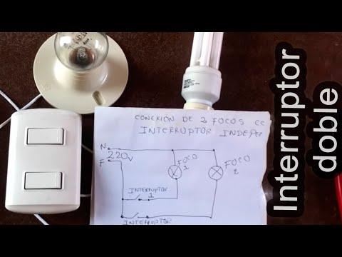 como conectar dos focos con interruptor doble