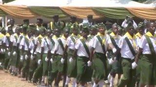 PATHFINDERS MARCH-PAST BEFORE KENYA'S PRESIDENT UHURU KENYATTA