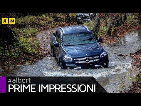 Mercedes Classe X a lezione di pick up su strada e in off road