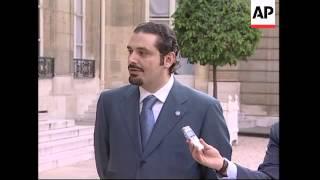 French president meets Saad Hariri over Mideast crisis