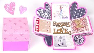 DIY EXPLODING BOX - Valentines Day Gift Idea - SoCraftastic