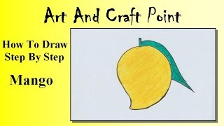 How to draw a Mango for kids