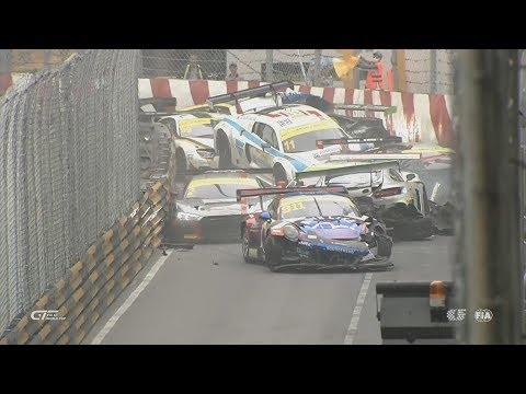FIA GT World Cup 2017. Qualification Race Macau Grand Prix. Huge Pile Up