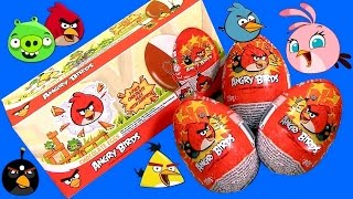 Angry Birds Toys Chocolate Surprise Box of Eggs Unboxing same as Kinder Huevos Sorpresa