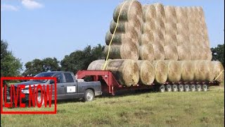World Amazing Bizarre Modern Agriculture Equipment Mega Machines: Hay Bale Handling Tractor Tr #SON