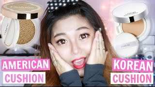 American vs Korean Cushion ft. L'OREAL Lumi Cushion (Acne Skin Review)