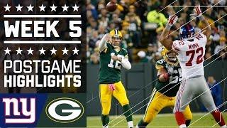 Giants vs. Packers | NFL Week 5 Game Highlights