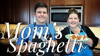 Easy Homemade Spaghetti and Meat Sauce ~ Mom