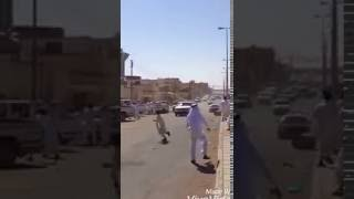 سناب : مطاردة درباوي في أول أيام العيد