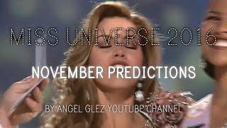 Miss Universe 2016 - November Predictions
