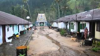 Sri Lanka,ශ්රී ලංකා,Ceylon,Plantation Line Houses Village Tamil Kovil