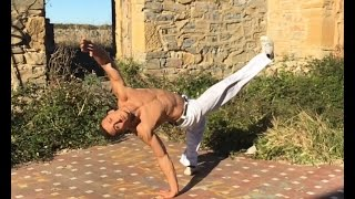 Capoeira - Tutorial Meia Lua Reversao / Lambida de Peixe (ENGLISH SUBTITLES)