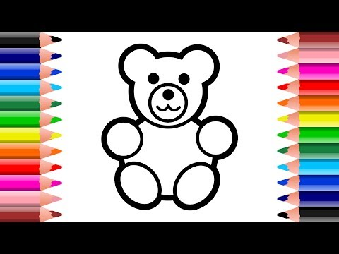 Drawings & Coloring - How To Draw Teddy Bear for kids