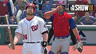 MLB The Show 18 - Matt Myer Road To The Show Washington Nationals Catcher EP 9 MLB 18 RTTS