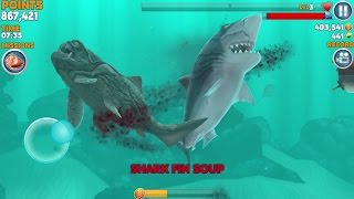 Hungry Shark Evolution: MEGALODON iPhone Gameplay