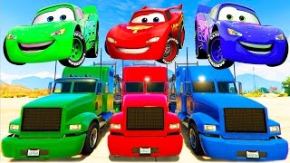 Lightning McQueen Colors Transportation & Nursery Rhymes