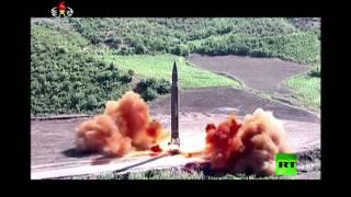 لحظة إطلاق صاروخ كوري شمالي متوسط المدى الذي هزّ طوكيو وواشنطن وسيئول