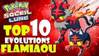 TOP 10 DES EVOLUTIONS DE FLAMIAOU - POKEMON LUNE ET SOLEIL !