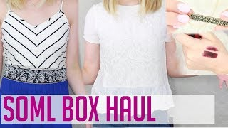 CLOTHING and BEAUTY BOX UNBOXING & TRY-ON // SOML FASHION