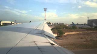 4K video of approach and landing at Karachi,  Pakistan airport by Xperia Z5 phone