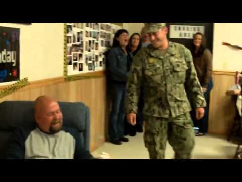 Sailor Surprises Father for 50th Birthday !