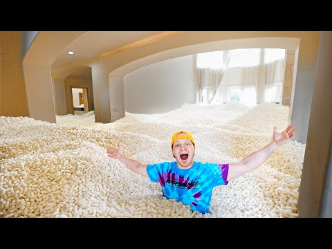 I FILLED MY ISLAND HOUSE WITH PACKING PEANUTS