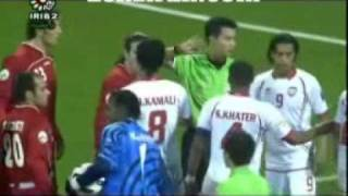 Iran on the top of Asian football cup & ugly behavior of UAE goal keeper