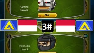 Head Soccer - How to Unlock Indonesia & Cyborg 3#