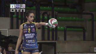 Samantha Bricio (Imoco Volley Conegliano) vs Modena 180318 (Italian A1 Quarter Finals Game 1)