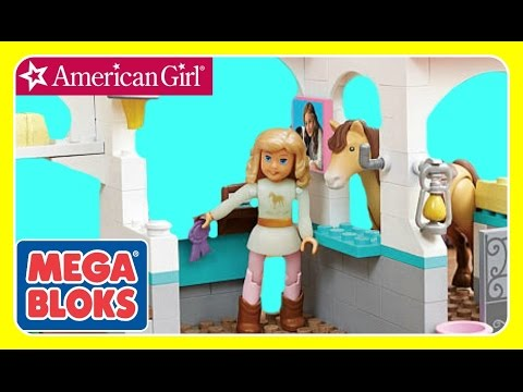 American Girl Mega Bloks Nicki's Horse Stables BUILD - LEGO LIKE!  NEW American Girl 2016 TOYS
