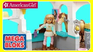 American Girl Mega Bloks Nicki's Horse Stables BUILD - LEGO LIKE!  NEW American Girl 2016 TOYS