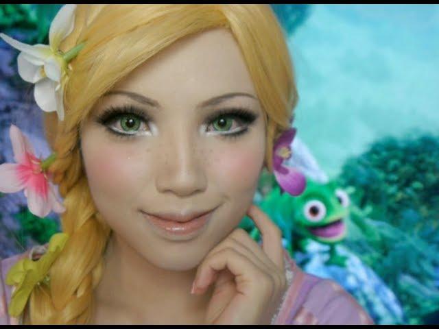 Disney's Tangled Rapunzel Make-up Tutorial( Ft. Flynn and Pascal)