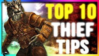 Skyrim TOP 10 Best Secret THIEF Build Tips & Tricks! (Special Edition Guide)