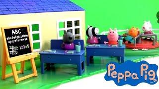 Peppa Pig na Escolinha da Madame Gazela Em Português BR ToysBR   Playset Peppa Pig in School