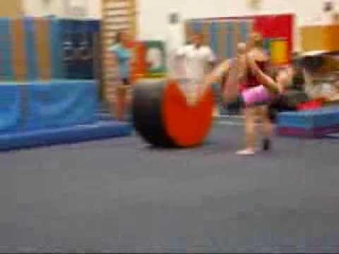 Me doing gymnastics at the gym