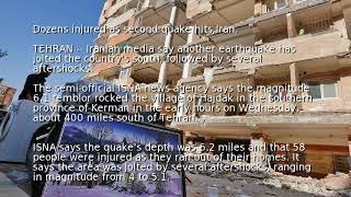 Dozens injured as second quake hits Iran