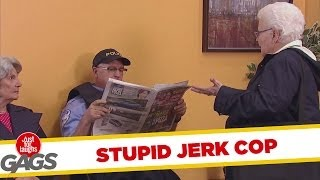 Jerk Cop Steals Old Lady