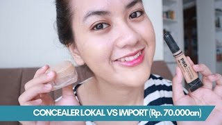CONCEALER LOCAL VS IMPORT (on acne face) | La Tulipe vs LA Girl Pro Conceal