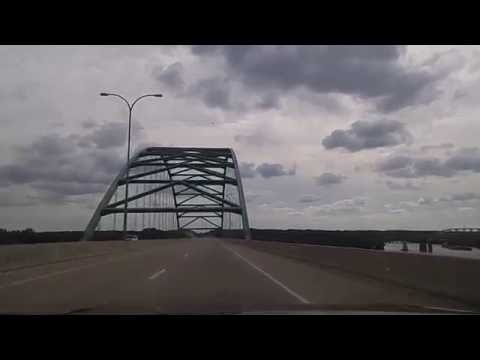 Driving on the I-39 from LaSalle-Peru to Oglesby,Illinois