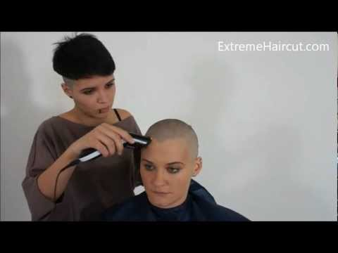 Yasmine s shaved mohawk ExtremeHaircut model
