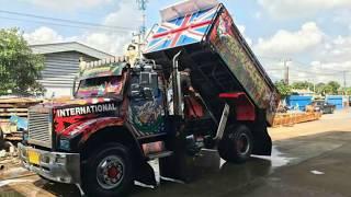 สุดยอด!!รถดั้ม อเมริกันแต่งสวย รถดั้มแต่ง รถบรรทุกแต่ง dump truck 2017