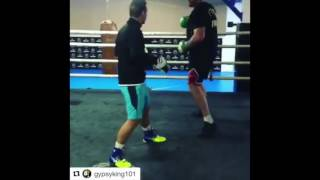 GYPSY KING TYSON FURY SMASHING THE PADS IN MARBELLA - BACK IN TRAINING!