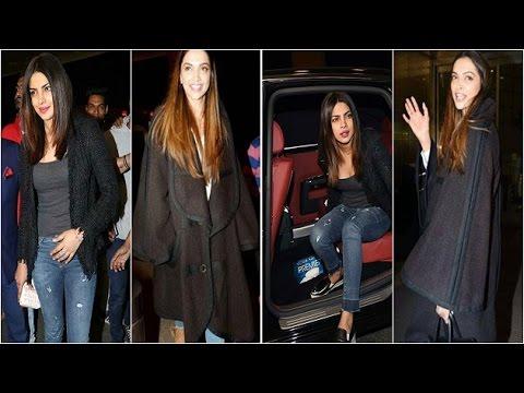 Your pick? Deepika's oversized coat or Priyanka's tweed jacket