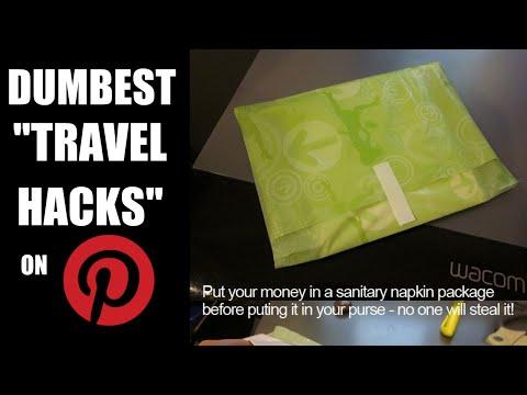 DUMBEST TRAVEL HACKS ON PINTEREST EVER