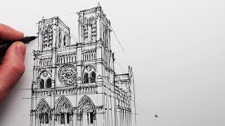 How to Draw Notre Dame Cathedral: Buildings in Perspective