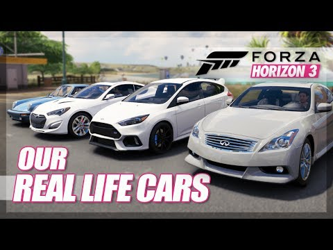 Forza Horizon 3 - Our Real Life Cars Challenge! (Meets, Races, and More!)