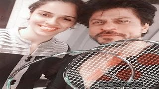 Saina Nehwal floored by SRK's racquet moves - TOI
