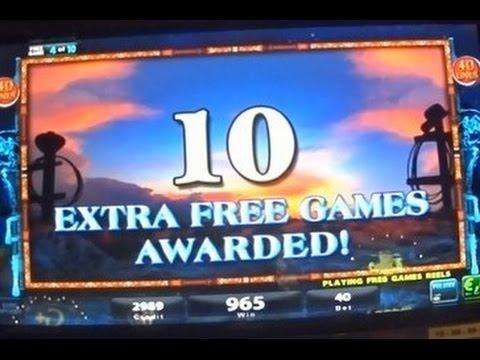 Bonus gagnant sur une machine à sous avec symboles du genre western.