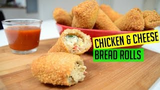 Bread Rolls with Chicken and Cheese | #IndianCookingRecipes | #CookwithAnisa | #ramadan recipes 2017